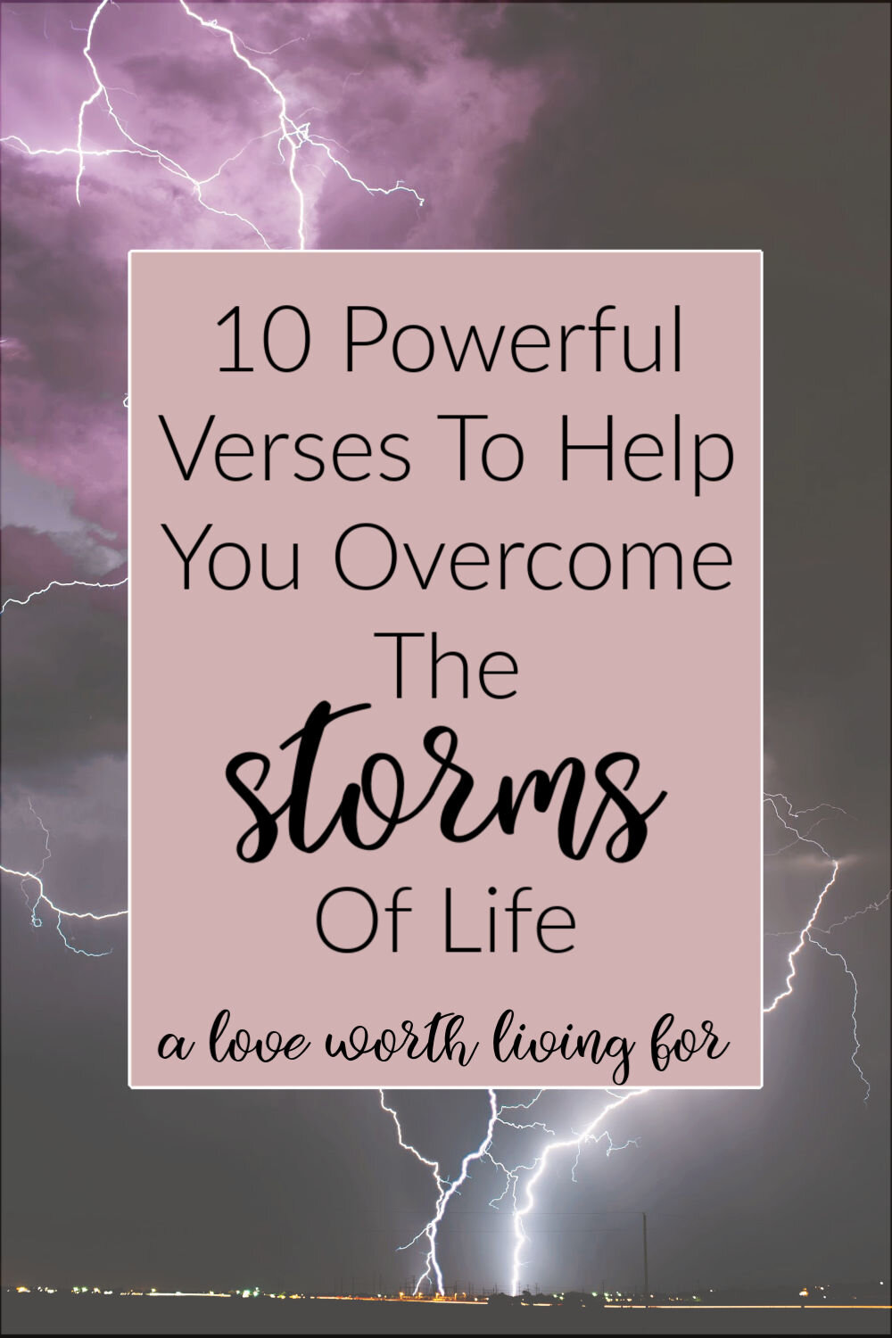 Sometimes life is hard. Where do you turn when the storms of life begin to rage around you? The good news is there is help and hope in life toughest seasons. The Bible is full of verses for when life is hard and stormy. You can have peace in the midsts of crisis and stress.